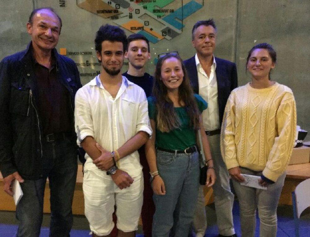 Les élèves de Prépa Navigant Ingénieur à la conférence sur la machine à étoiles à l'IUT de Saint-Malo