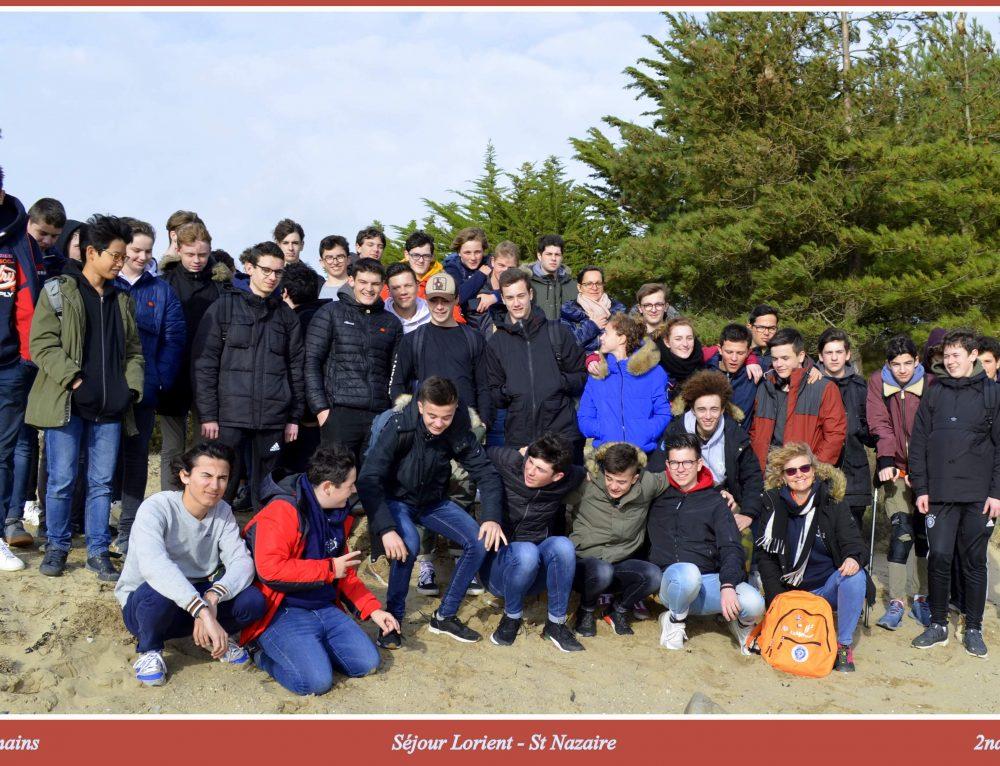 Séjour pédagogique en Bretagne Sud pour un groupe de seconde