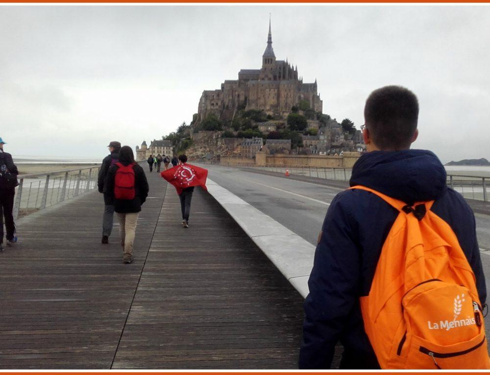 Marche nocturne du Mont Dol au Mont Saint Michel