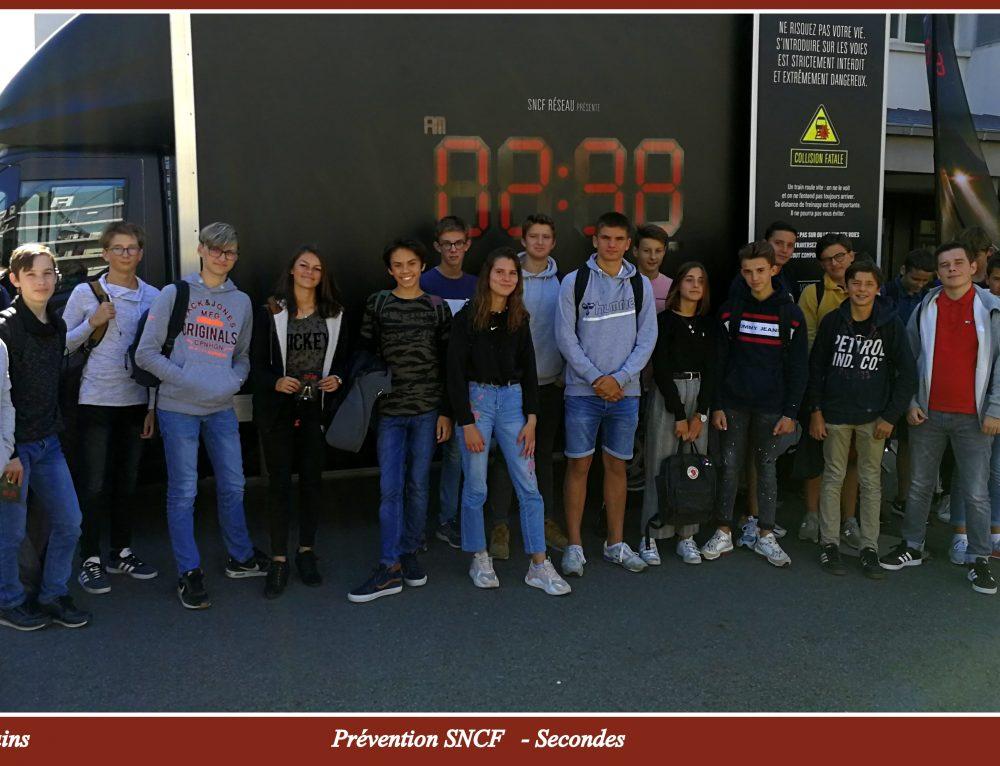 Prévention SNCF à destination des élèves de seconde